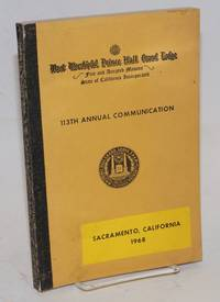image of Proceedings of the M. W. Prince Hall Grand Lodge; free and accepted masons of the State of California, one hundred and thirteenth annual communication, held at Sacramento, California, July 15-17, 1968, A.L. 5968