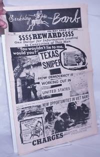 image of Berkeley Barb: vol. 5, #11 [likely #12] (#110) September 22 - 28, 1967: Reward: Texas Sniper