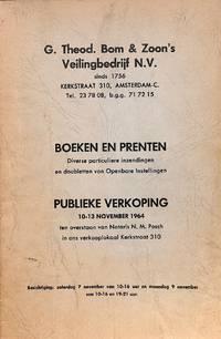 Sale 10-13 november 1964: Boeken en Prenten. Diverse particuliere  inzendingen en doubletten van openbare instellingen.