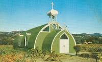 Famous El Carmelo Chapel in the Italian Swiss Colony Vineyards, Asti California, Postcard
