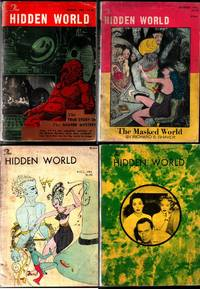 THE HIDDEN WORLD magazine, 1961 spring, A-1, A-2, A-3, A-4, Issues 1, 2, 3, 4 of the Shaver mystery story