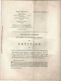 First Division July 5, 1859. Petition, David Alexander Gordon, of Culvennan, and John Hyslop...