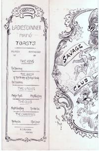 "image of Delightful pictorial menu for ""Ladies' Night"", (E.E. Peacock, Hon. Sec.)]"