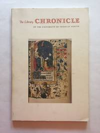 [Medieval and Renaissance Manuscripts]. The Library Chronicle of the University of Texas at...