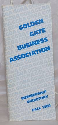 image of GGBA Membership Directory: Fall 1984