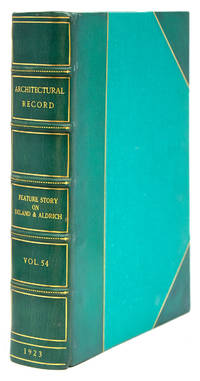 The Architectural Record. Index to Volume LIV. July-December 1923