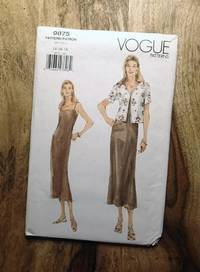 image of Vogue Sewing Pattern: 9875: Misses' Jacket and A-line Above Ankle Dress: Sizes: 14-16-18