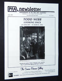 PFA Newsletter, January 2002: Todd Webb, Looking Back