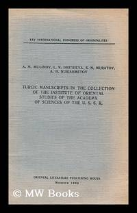 Turcic manuscripts in the collection of the Institute of Oriental studies of Oriental Studies of...