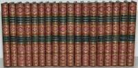 COOPERS NOVELS [18 Volumes; Fine Bindings] TWO ADMIRALS; RED MYERS; MARK'S REEF; RED ROVER; LIONEL LINCOLN; WYANDOTTE; OAK OPENINGS; MILES WILLINGFORD; AFLOAT AND ASHORE; THE PILOT; SATANSTOE; HOMEWARD BOUND; EVE EFFINGHAM; THE SEA LIONS; THE BORDERERS; THE HEIDENMAUER; PRECAUTION; HEADSMAN