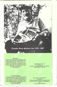 [From first panel]: Coracle Press Archive List 1975-1987