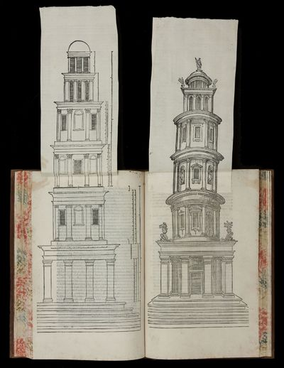 Folio , 404 pp., (11) ff., lacking final blank, with architectural woodcut title, medallion portrait...