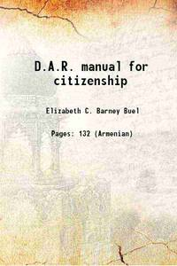 D.A.R. manual for citizenship 1948 [Hardcover]