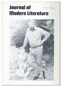 Journal of Modern Literature, Vol. 8, no. 2 1980/1981: John Fowles Special Number [Signed]