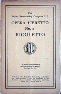 Opera Libretto no.  2, Rigoletto