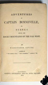 image of Adventures of Captain Bonneville, or Scenes byond the Rocky Mountains of the Far West