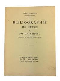 Bibliographie des Oeuvres de Gaston Maspero