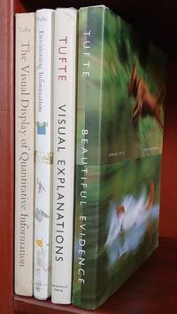 Set of Edward R. Tufte Books: The Visual Display of Quantitative Information / Envisioning Information / Visual Explanations: Images & Quantities, Evidence & Narrative / Beautiful Evidence