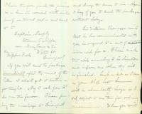 Autograph letter signed to O. Becker