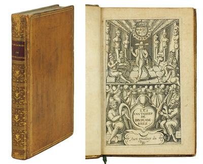 Sm. Paris: Jean Millot, 1615. Sm. 8vo, vi, 325, (3) pp. Engraved title page followed by typographic ...