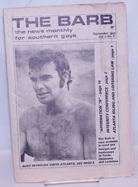 image of The Barb: the news monthly for Southern Gays; vol. 2, #8, September 1975: Burt Reynolds Visits Atlanta