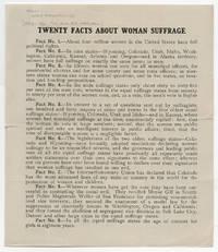 Twenty Facts - Woman Suffrage Talking Points in 1913