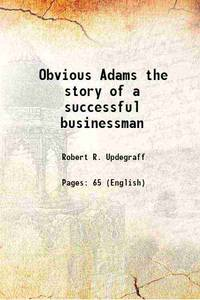 image of Obvious Adams the story of a successful businessman [Hardcover]