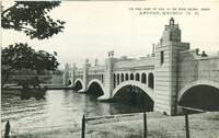 Japan – The Fine sight of Dam in the River Dojima, Osaka, unused Postcard