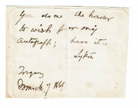 image of AUTOGRAPH NOTE SIGNED by the English author who coined the phrase