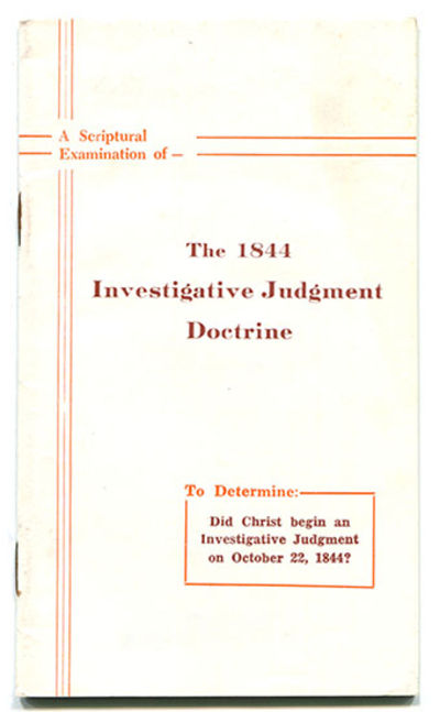 The Doctrine of the Investigative Judgment - Pickle Publishing