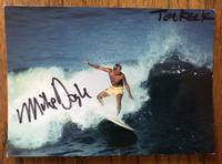CALIFORNIA SURFING, Mike Doyle at Ocean Beach. Postcard. (Signed)
