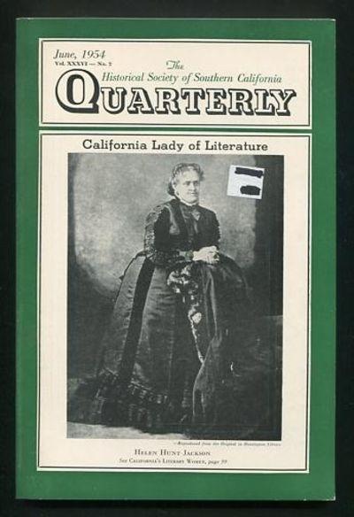 Los Angeles: Historical Society of Southern California. Very Good+. 1954. (Vol. XXXVI, No. 2). Journ...