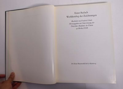 Hamburg: Hauswedell, 1971. Hardcover. VG+, ex art library copy appears unused. Blue library cloth wi...