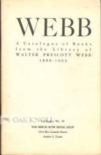 Austin, TX: The Brick Row Book Shop, 1964. stiff paper wrappers. Webb, Walter Prescott. 8vo. stiff p...