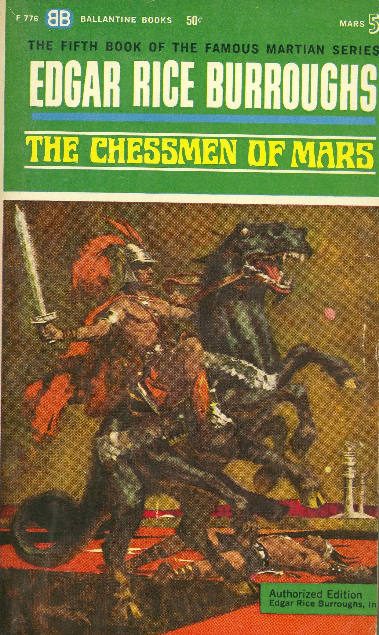 The Chessmen of Mars by Edgar Rice Burroughs - Paperback - First Paperback  Edition - First Printing - 1963 - from Bookmarc Books (SKU: 015121)