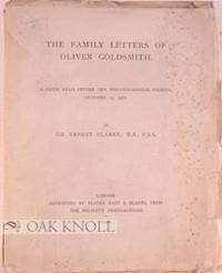 London: Blades, East & Blades, 1920. stiff paper wrappers. Goldsmith, Oliver. 8vo. stiff paper wrapp...