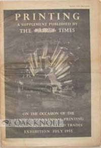 London: The Times', 1955. self paper wrappers as issued. folio. self paper wrappers as issued. 48 p...