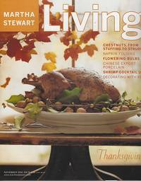 MARTHA STEWART LIVING MAGAZINE NOVEMBER 2001 by  Martha Stewart - 2001 - from Gibson's Books (SKU: 83494)
