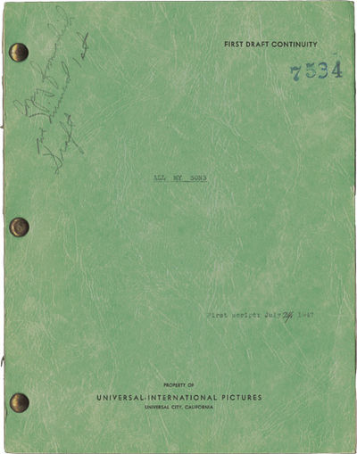 Universal City, CA: Universal Pictures, 1947. First Draft script for the 1948 film noir. The carbon ...