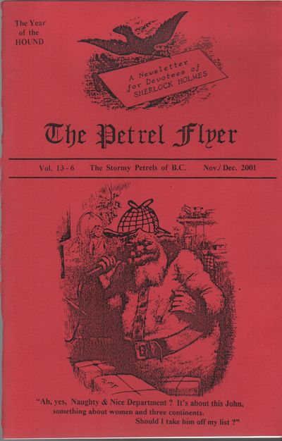 (Vancouver, BC): (The Petrel Flyer), 2001. First Edition. Wraps. Near fine. 8vo. Saddle-stapled wrap...