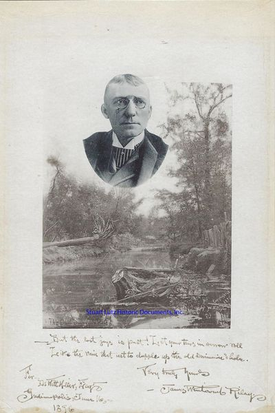 """JAMES WHITCOMB RILEY (1849-1916). Riley was an American writer and poet sometimes known as """"The Ho..."""