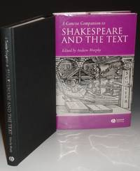 image of A Concise Companion to Shakespeare and the Text
