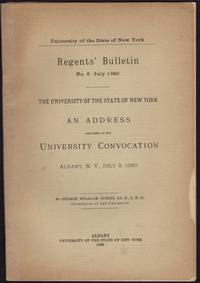 image of University of the State of New York. Regents' Bulletin No. 2 July 1890. AN ADDRESS Delivered at the University Convocation Albany, N.Y. July 9, 1890