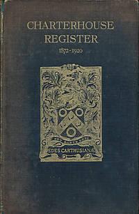 Charterhouse Register. 1911 - 1920. Vol III