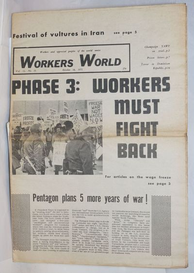New York: Workers World Party, 1971. Newspaper. 20p., folded tabloid, illus., toned, evidence of con...