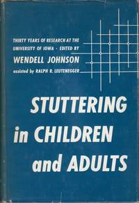 image of Stuttering in Children and Adults: Thirty Years of Research at the University of Iowa