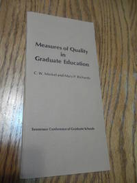 Measures of Quality in Graduate Education