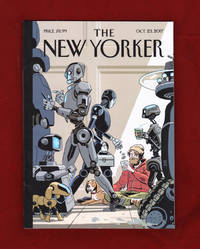 "image of The New Yorker - October 23, 2017. R. Kikuo Johnson Cover. ""The Money Issue"". Harvey Weinstein; Manhattan, 1981; ""President Pence"" Delusion; Robot Workforce; Trump War Threats; Wonderstruck; Kali Uchis; Xu Tan; Meyerowitz Stories; Bushwick"