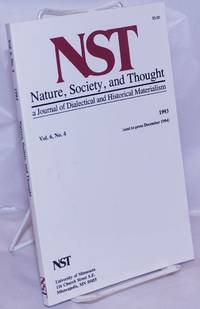 image of Nature, Society and Thought NST A Journal Of Dialectical And Historical Materialism 1993, Volume 6, Number 4