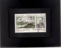Tchotchke Stamp Art - Collectible Postage Stamp - Wiktor Thommee & The Defense of Modlin 1939